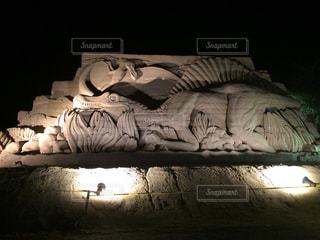 砂の彫刻の写真・画像素材[933935]