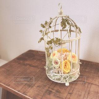 紫陽花とミニバラの写真・画像素材[967642]