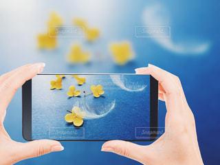 携帯電話を持つ手の写真・画像素材[3104793]