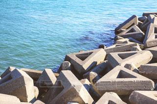 テトラポットと海の写真・画像素材[934386]