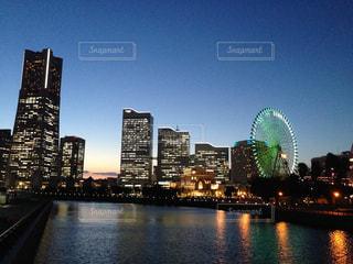 みなとみらいの夜景の写真・画像素材[934571]