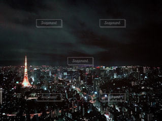 東京タワーの見える夜景の写真・画像素材[953802]