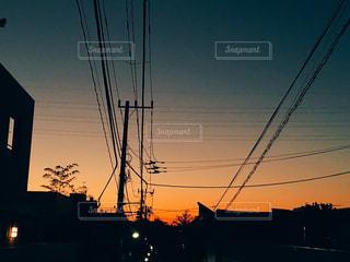 柿の木坂の夕日の写真・画像素材[958786]