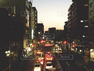 夕方の目黒通りの写真・画像素材[991490]
