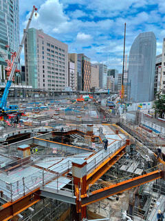 渋谷の再開発工事現場の写真・画像素材[4612091]