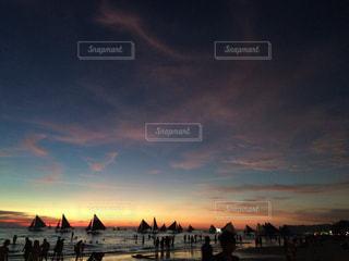 ボラカイ島の夕陽の写真・画像素材[934442]