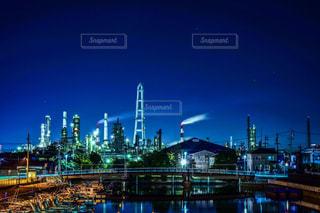 市街地と工場の写真・画像素材[936081]