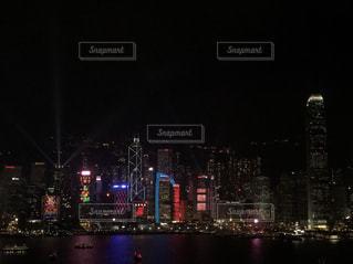 香港の夜景の写真・画像素材[1136995]