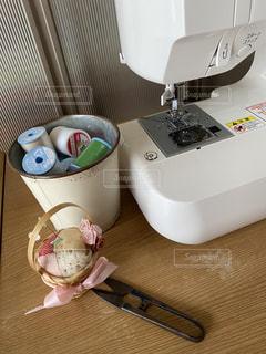 ミシンと糸の写真・画像素材[3017108]