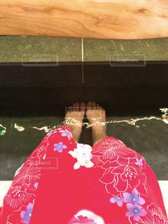 束の間の足湯の写真・画像素材[939011]