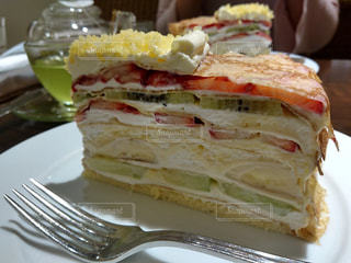 お皿の上のケーキ - No.939022