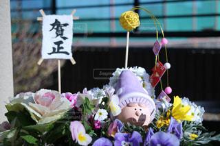 お正月のお花の置物の写真・画像素材[943470]