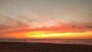 砂浜と海と空の写真・画像素材[4746365]
