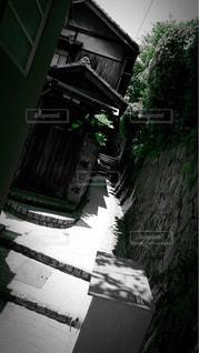 背景の木と家の写真・画像素材[939542]