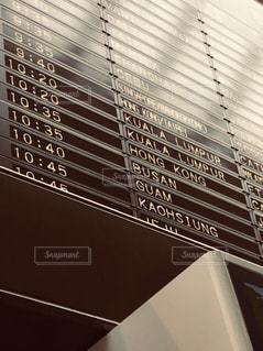 空港の電光掲示板の写真・画像素材[940010]