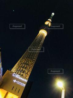 夜ライトアップ スカイツリーの写真・画像素材[941477]