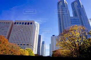 背景の高層ビル街の景色の写真・画像素材[939981]