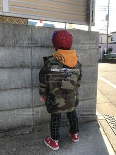 冬のコーデ 4歳児の写真・画像素材[940165]