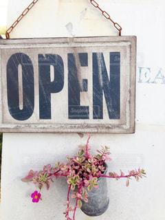 カフェ入口の写真・画像素材[957310]