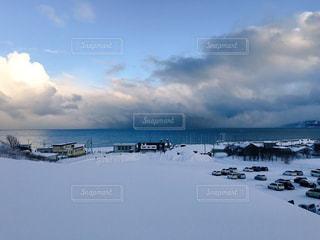 雪景色と海 - No.942690