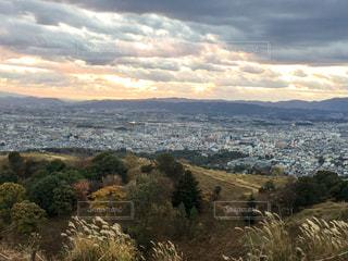 若草山からの眺めです。夕日が綺麗です。の写真・画像素材[941772]