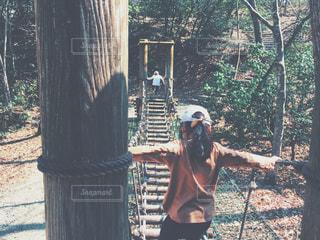吊り橋の写真・画像素材[1103278]