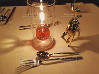 クリスマスのテーブルウェアの写真・画像素材[944001]