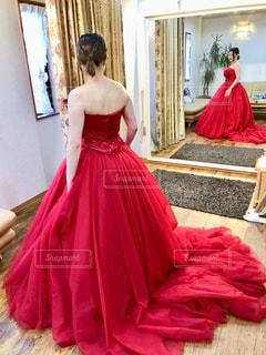 ドレス試着の写真・画像素材[1193538]