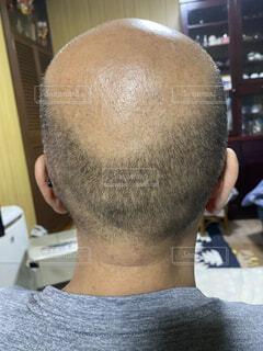 後頭部の写真・画像素材[3904697]