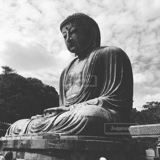 変わらぬ荘厳、鎌倉大仏の写真・画像素材[944864]