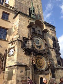 チェコ、プラハの天文時計塔 オルロイの写真・画像素材[942839]