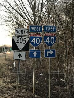 アメリカの道路標識の写真・画像素材[986922]
