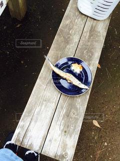 お外で焼き魚の写真・画像素材[944236]