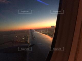 飛行機内からの景色 - No.943422