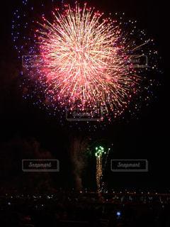 夜空の花火の写真・画像素材[948015]