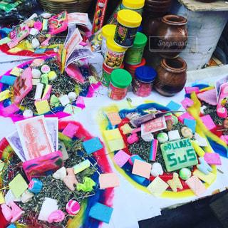 ウユニ塩湖のカラフルな市場!の写真・画像素材[945120]