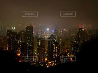 香港での夜景です。100万ドルの夜景の写真・画像素材[1035751]