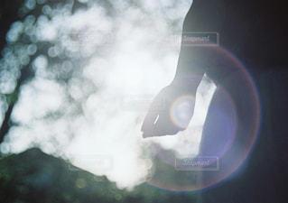 空には雲のぼやけた画像の写真・画像素材[947174]