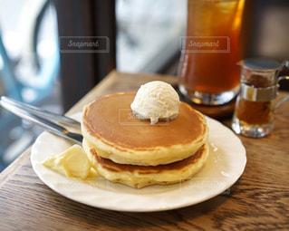 純喫茶のホットケーキの写真・画像素材[1189227]
