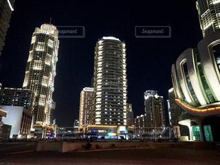 平壌 夜の街の景色の写真・画像素材[1873587]