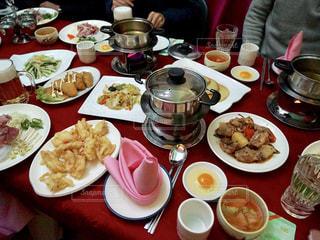 北朝鮮での食事の写真・画像素材[1873599]