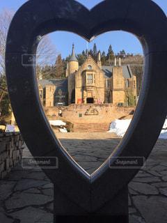 ハートに映るロックハート城の写真・画像素材[984212]
