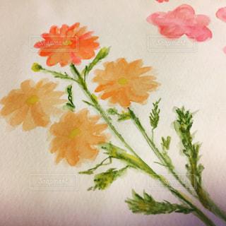 水彩で描いた花の写真・画像素材[948337]
