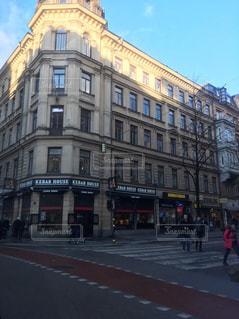 街の通りのビューの写真・画像素材[985938]