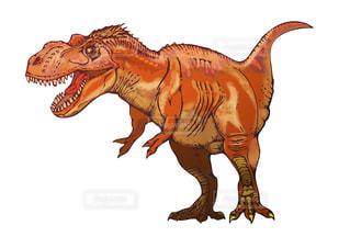 近くに恐竜のアップの写真・画像素材[948653]
