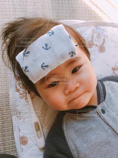 風邪の赤ちゃん(6ヶ月)の写真・画像素材[2173371]