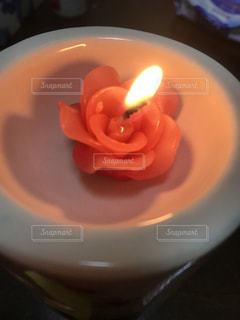 バラのキャンドルの写真・画像素材[950195]