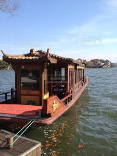 世界遺産 西湖と舟の写真・画像素材[950547]
