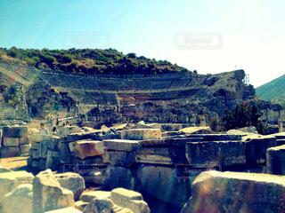 世界遺産 エフェソス遺跡/2万人以上を収容した音楽堂の写真・画像素材[950573]