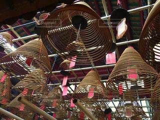 香港 文武廟/螺旋のお香1の写真・画像素材[950660]